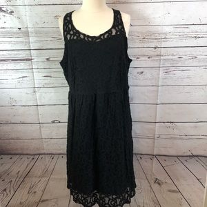 Lane Bryant Black Sleeveless Dress with mesh